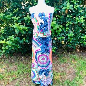 Uptown USA tube top strapless maxi dress- L